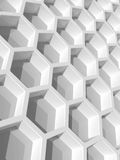 White honeycomb structure. 3d render Royalty Free Stock Photo