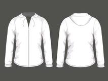 White hoodie templates Royalty Free Stock Photos