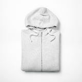 White hoodie  on white Royalty Free Stock Photo
