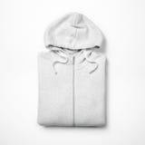 White hoodie  on white Royalty Free Stock Photo