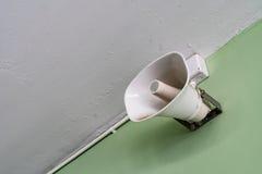 White horn speaker Royalty Free Stock Photo