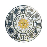 White horoscope wheel Stock Images