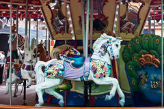 White Horse on a Carousel Royalty Free Stock Photography