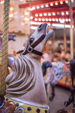 White horse in the carousel Royalty Free Stock Images