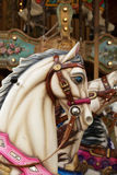 White horse in Carousel Royalty Free Stock Photography