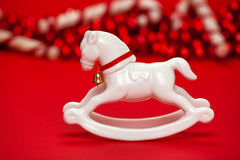 White horse Christmas ornament Stock Image