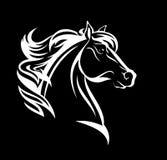 White horse head profile vector royalty free illustration