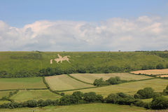 White horse hill osmington, historic figure Royalty Free Stock Photos