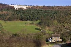 The White Horse at Kilburn - Great Britain. The White Horse at Kilburn in North Yorkshire in Great Britain. The horse was cut into the hillside in 1857 on Sutton Stock Photo
