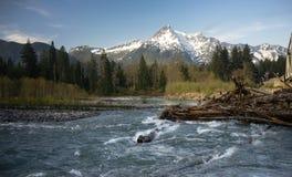 White Horse Mountain Darrington Washington North Cascades. The Sauk River flows close to White Horse Mountain Washington State Royalty Free Stock Image