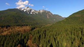 White Horse Mountain North Cascades Darrington Washington Sauk River Valley stock footage