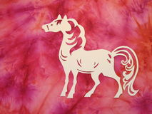 White horse. Paper cutting. royalty free stock photo