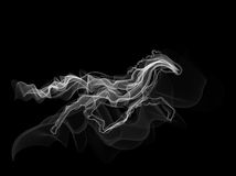 White horse smoke silhouette vector Stock Photo