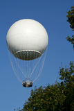 White Hot Air Ballon In The Air Stock Photos