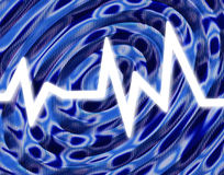 White Hot Sound Blue Wave Background Stock Images