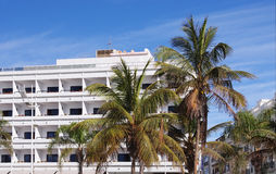 A white hotel on Canary Islands Royalty Free Stock Photography