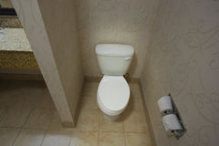 White hotel toilet Royalty Free Stock Images