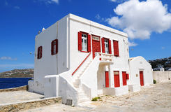 White House. A white house in greece Royalty Free Stock Photography