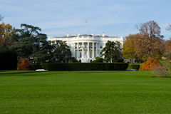 The White house. View on White house in Washington DC in fall Stock Photo