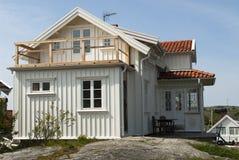 White house. In Swedish westcoast Royalty Free Stock Photos