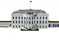White house 3d model Stock Images