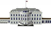 White house 3d model vector illustration