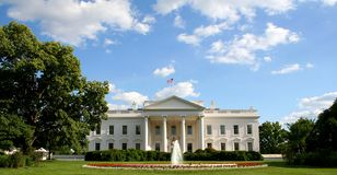White house. South facade of the white house complex Royalty Free Stock Photo