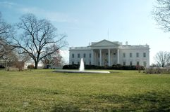 White House. The White House viewed from the front royalty free stock images
