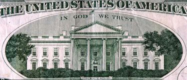 White House. Back of a dollar bill Stock Images