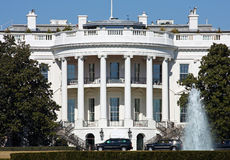 The White House. The south face of the White House in the District of Columbia Stock Photo