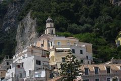 The white house in Amalfi Stock Image