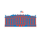 White House America colored icon. Residence of President USA. US Stock Photography