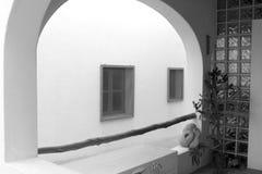 White house arch detail mediterranean architecture Stock Photo