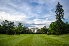 The white house. The backyard of the white house, home of the President of the United States of America Royalty Free Stock Images