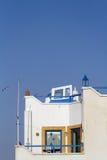 White house on blue sky Stock Photo