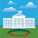 White House blue sky Royalty Free Stock Photos