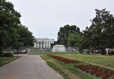 White House Building with Andrew Jackson Statue from Washington District of Columbia USA Royalty Free Stock Photography