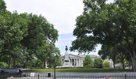 White House Building with General Sherman statue from Washington District of Columbia USA Royalty Free Stock Images