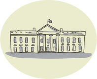 White House Building Oval Drawing Royalty Free Stock Image