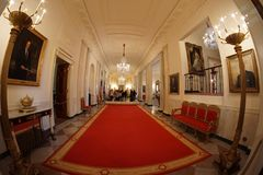 White House - Cross Hall Royalty Free Stock Photos