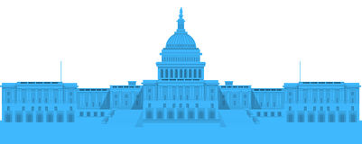 White House - detailed vector illustration Royalty Free Stock Photos