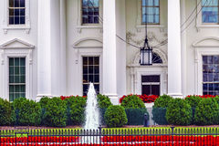 White House Door Red Flowers Pennsylvania Ave Washing Stock Photography