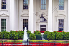 White House Door Red Flowers Pennsylvania Ave Washington DC Royalty Free Stock Images