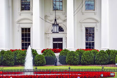 White House Door Red Flowers Pennsylvania Ave Washington DC Royalty Free Stock Image