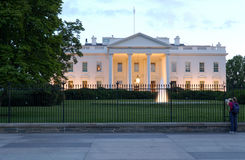 White House at Dusk Stock Image