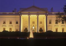White House at dusk, Washington D.C., USA Stock Photo