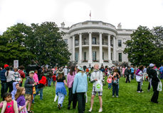 White House Egg Roll. Annual egg roll celebrating Easter on the White House lawn in Washington DC Royalty Free Stock Images