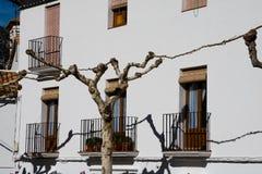 White house facade in Grazalema. Spain Stock Image