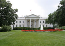 White House, Front, Washington. The White House viewed from the front royalty free stock photo