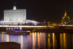 The white House of the government of the Russian Federation Royalty Free Stock Image